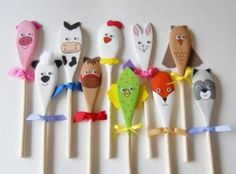 Our adorable wooden puppets are fashioned from wooden spoons measuring approximately 10 long and are sure to spark your childs imagination as they Easter Crafts, Christmas Crafts, Diy And Crafts, Crafts For Kids, Wooden Spoon Crafts, Wooden Spoons, Painted Spoons, Spoon Art, Puppet Crafts