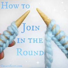 Learn to join in the round with circular knitting!