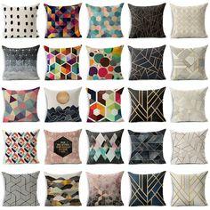 Abstract Geometric Cotton Linen Cushion Cover Throw Pillow Case Sofa Home Decor #Unbranded #Contemporary