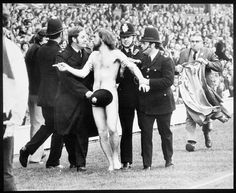 Michael O'Brien - the first sports streaker. I'm a bit obsessed with this iconic photo.