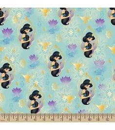 "Disney® Aladdin Cotton Fabric 43""-Princess Jasmine"