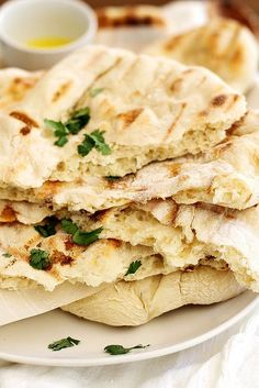 No-Knead Grilled Naan | girlversusdough.com @girlversusdough