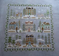 little house needleworks main street station Cross Stitch House, Xmas Cross Stitch, Cross Stitch Needles, Cross Stitch Samplers, Cross Stitch Charts, Cross Stitch Designs, Cross Stitching, Cross Stitch Embroidery, Cross Stitch Patterns
