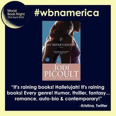It's raining books! Hallelujah! It's raining books! #wbnamerica