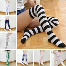 Wish - Shopping Made Fun Striped Stockings, Japanese Candy, Kawaii, Fabric Names, Girls Socks, Knee High Socks, Wish Shopping, Candy Colors, Thigh Highs