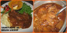 "Search Results for ""kreatiewe kos uit my koskas"" – Kreatiewe Kos Idees Kos, Pork Recipes, Cooking Recipes, Recipies, Lamb Curry, Tortilla Wraps, South African Recipes, Savoury Baking, Pork Dishes"