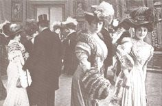 Великобритания.+Эдвардианская+мода+начала+20+века+(1900+—+1910).+Эдвардианская+дама.