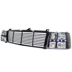 Chevy Tahoe 2000-2006 Black Grille and Headlights LED DRL
