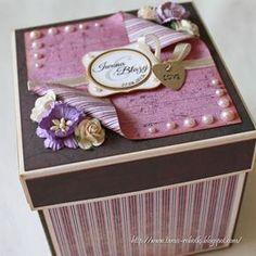 Pudełka ślubne - exploding box