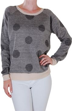 Darling polk dot sweatshirt http://rstyle.me/n/rs3pznyg6