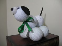 golfball, golf ball, golf ball dog, craft, fun, crafting, kids craft, easy, father's day, father's day craft, fathers day craft, fast, gift, tutorial, video, dog, animal craft, golfing, golfer, gift