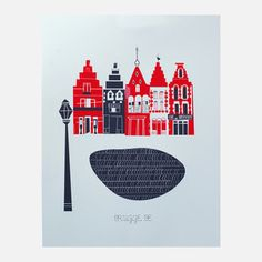 Bruges Ltd Release 11x14, $29, now featured on Fab.