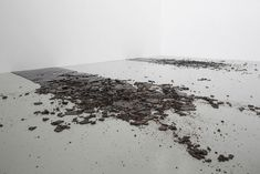 Kilian Rüthemann, Untitled, burnt sugar, 200 x 450 cm, 2008