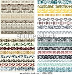 Set of flower borders decorative elements for design free vector download (113,203 files) for commercial use. format: ai, eps, cdr, svg vector illustration graphic art design
