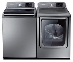 Samsung Top Loader Washer & Dryer (Don't buy front loader washers they store water under the door and it turns into mold) Laundry Room Organization, Organization Hacks, Laundry Rooms, Laundry Closet, Best Washer Dryer, Samsung Washer, Laundry Dryer, Love Your Home, Interior Design Living Room