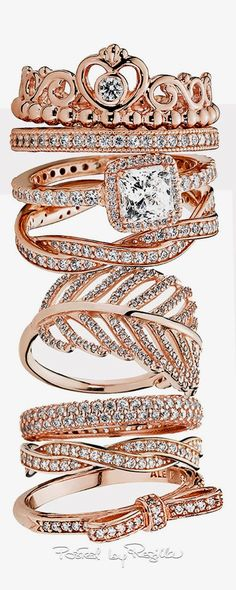 Regilla ⚜ pink gold jewelry by Pandora #PandoraJewelry