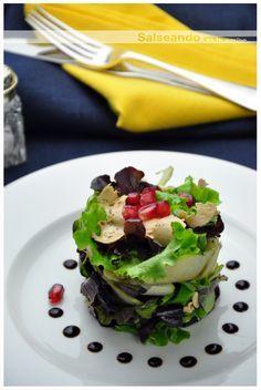 Salseando en la cocina: Ensalada de frutas y foie de canard mi-cuit