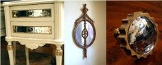 How To Create an Antique Mirror Effect | Apartment Therapy--you can even use a plexiglass mirror....that's a thought for the kitchen backspkash