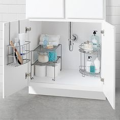 SALT ™ Bathroom Cabinet Organization in a Box - Kitchen and Storage Comb . - SALT ™ Bathroom Cabinet Organization in a Box – Kitchen and Pantry – # - Bathroom Cabinet Organization, Sink Organizer, Small Bathroom Storage, Simple Bathroom, Bathroom Cabinets, Organization Ideas, Organizing, Bathroom Ideas, Bathroom Box