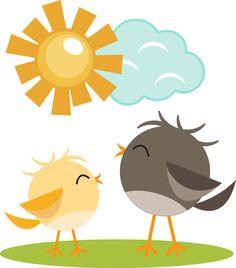 Cute Birds l SVG Cutting File Set