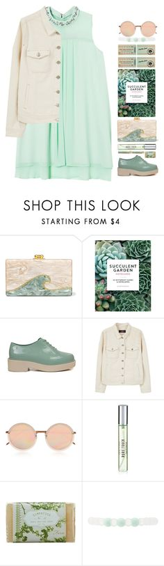 """""""*1580"""" by cutekawaiiandgoodlooking ❤ liked on Polyvore featuring Edie Parker, Chronicle Books, Violeta by Mango, Linda Farrow, New Look, K. Hall Designs (Simpatico), Charlotte Russe, casualoutfit, mint and cuteoutfit"""