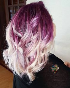 Platinum w/Purple Roots