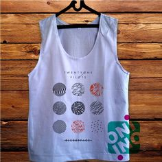 Twenty One Pilots Blurryface Cover Men's White Cotton Solid Tank Top