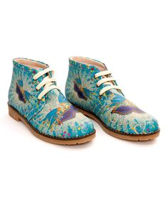 Look at this Sapphire Abstract Butterfly Chukka Boot on #zulily today!