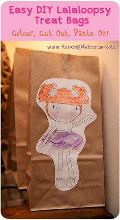 Easy DIY Lalaloopsy Treat Bags #LalaloopsyParty #birthdayparty
