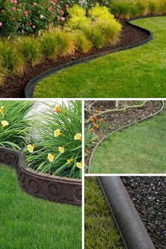Brilliant & Cheap Garden Edging Ideas With Pictures For 2019 is part of Garden edging - Landscape edging constructs the framework of your garden Garden Edging may be pretty costly, and definitely so if you are going to employ bricks to edge your lawn Flower Bed Edging, Grass Edging, Yard Edging, Brick Edging, Flower Beds, Landscape Borders, Garden Borders, Landscape Plans, Brick Garden
