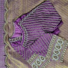 Silk Saree Blouse Designs, Blouse Neck Designs, Blouse Patterns, Silk Sarees, Hand Designs, Mehndi Designs, Hand Work Blouse Design, Design Trends, Boat Neck