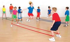 This is a great way to show the kids how to jump rope without using the actual rope. Great for teaching partner and double dutch. Kids Team Building Activities, Group Games For Kids, Team Building Games, Movement Activities, Music Activities, Group Activities, Activity Games, Music Education, Physical Education