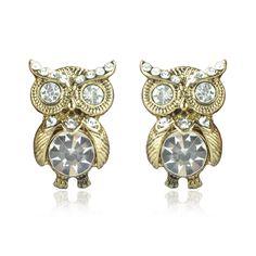 Cute Big Eyes Owl Earring
