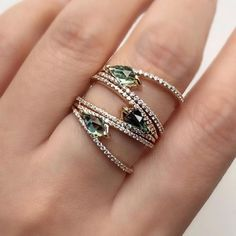 Vine Ring / Solid Gold Diamond Vine Band / Diamond Leaf Ring in Rose Gold / Eternity Diamond Branch Ring / Bridal Jewelry - Fine Jewelry Ideas Silver Jewellery Indian, Silver Jewelry, Silver Rings, Gold Jewellery, Silver Bracelets, Sparkly Jewelry, Swarovski Jewelry, Beaded Jewelry, Diamond Jewelry