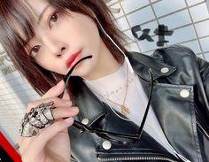 Harajuku Japan, Leather Fashion, Women's Fashion, Asia Girl, Daniel Wellington, Asian Woman, Leather Jackets, Celebrities, Lady