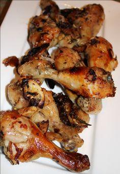 Roast garlic  lemon drumsticks from www.chelseawinter.co.nz
