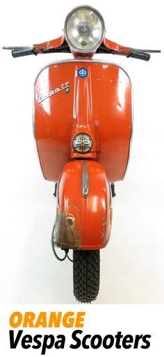 Vespa Vintage Scooters in orange
