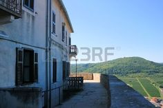 houses in Motovun, Istria, Croatia