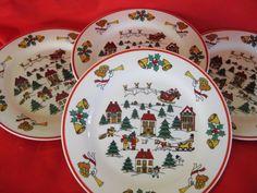 Jamestown China Joy of Christmas Salad plates set by ChinaGalore, $32.00