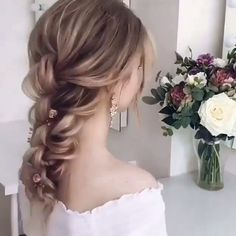 hairstyles - Easy Hairstyles With Bangs Hairstyles With Bangs, Pretty Hairstyles, Braided Hairstyles, Wedding Hairstyles, Quick Hairstyles, Hot Haircuts, Fall Hair Cuts, Hair Upstyles, Hair Videos