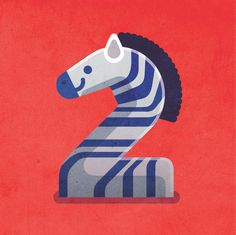 Quirky illustrated numbers for 'Revistinha da Gol' magazine