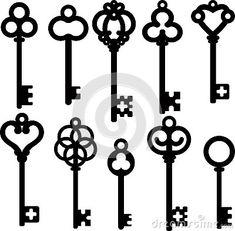 Antique skeleton keys by Svetlanaprikhnenko, via Dreamstime