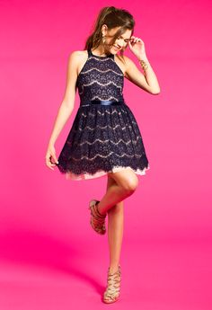 Two-Toned Lace Dress