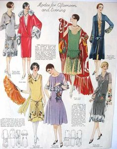 Here's the full Fashion History: 1920 - 1930, from the dresses, beauty, style and clothes people wore to the revolution of the flapper girl and her life.