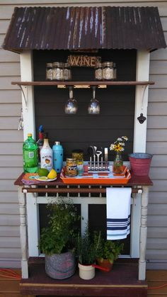 DIY Outdoor Beverage Station