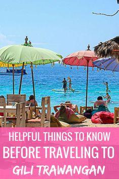 9 Helpful Things to Know Before Traveling to Gili Trawangan - Travel Lush #indonesia #gilitrawangan