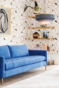 nice 48 Stylish Gold Living Room Design Ideas You Will Love Bedroom Furniture Design, Home Decor Bedroom, Living Room Furniture, Entryway Decor, Bedroom Ideas, Living Rooms, Master Bedroom, Living Spaces, Pantone