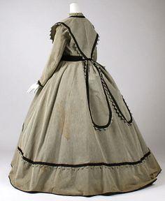 Dress  Date: ca. 1868 Culture: American Medium: wool