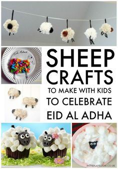 Eid Al Adha and Hajj Crafts for Kids is part of Eid ul adha crafts - Eid al Adha and Hajj crafts for kids Learn about Hajj, and the kaba, and make a sheep craft for Eid Eid Ramadan, Eid Mubark, Ramadan Gifts, Eid Gift, Ramadan Mubarak, Eid Crafts, Easter Crafts, Crafts To Make, Bible Crafts