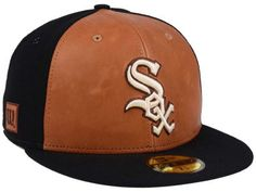 official photos 751df f4041 Chicago White Sox New Era MLB X Wilson Leather Front 59FIFTY Cap White Sox  Logo,